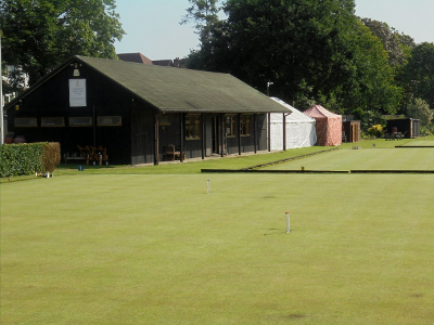 Picture of a croquet clubhouse outside London